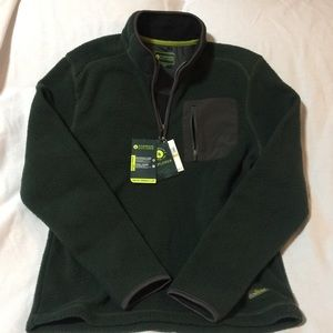 nwt Bass Explorer Fleece jacket 1/4 Zip pullover